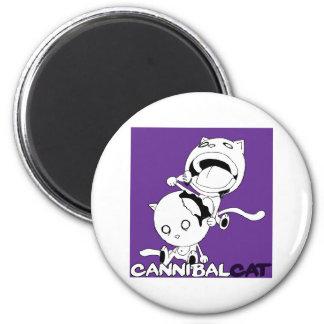 Gato del caníbal imán redondo 5 cm