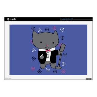 Gato del cantante del jazz portátil 43,2cm skin