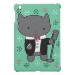 Gato del cantante del salón iPad mini funda