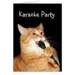 Gato del canto tarjeta de felicitación