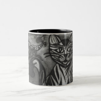 Gato del carbón de leña taza de dos tonos
