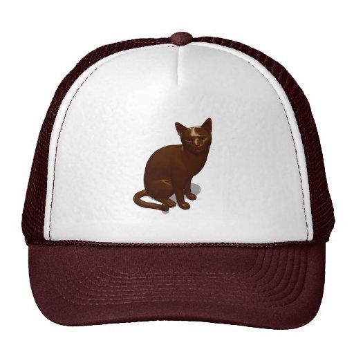 Gato del chocolate gorra