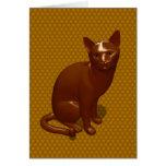 Gato del chocolate tarjeta de felicitación