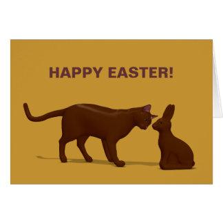 Gato del chocolate tarjetón