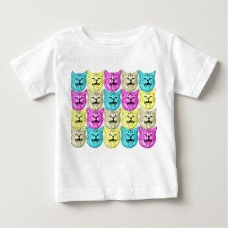 gato del color del arte pop playera