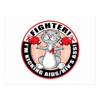 Gato del combatiente de AIDS/HIV Postales
