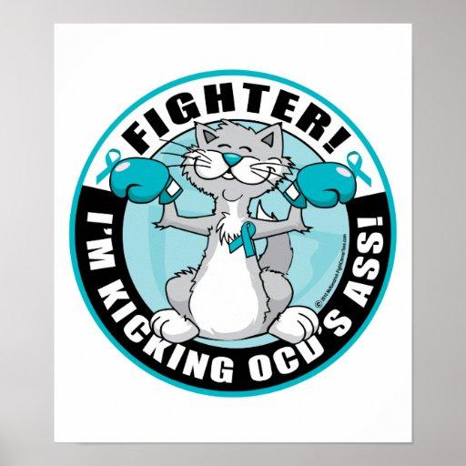 Gato del combatiente de OCD Impresiones