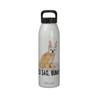 Gato del conejito triste botellas de beber