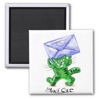 Gato del correo iman para frigorífico