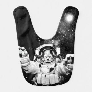 Gato del cosmonauta babero de bebé