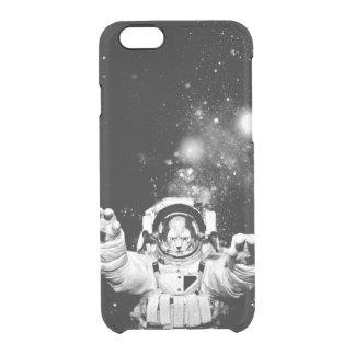 Gato del cosmonauta funda clearly™ deflector para iPhone 6 de uncommon