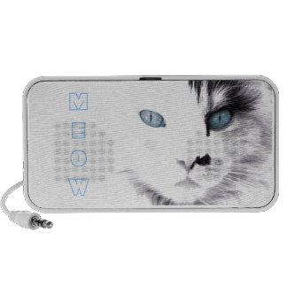 Gato del ` d del ojo azul iPod altavoces