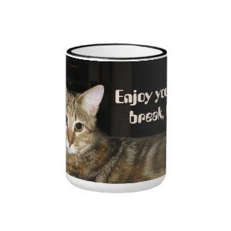 Gato del descanso para tomar café (personalizable) taza
