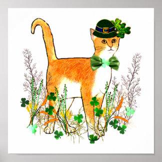 Gato del día de St Patrick Impresiones