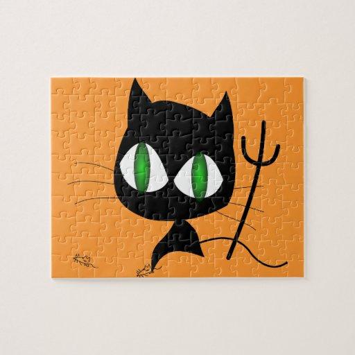 Gato del diablo puzzles con fotos