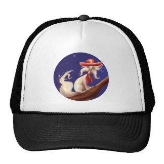 gato del dibujo animado con el gorra de vaquero