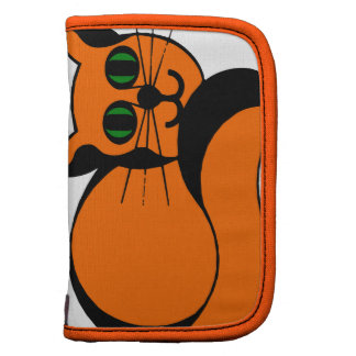 Gato del dibujo animado del jengibre planificador