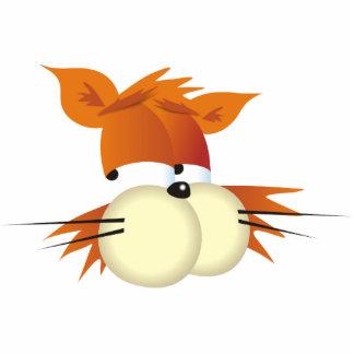 Gato del dibujo animado fotoescultura vertical
