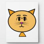 Gato del dibujo animado placa de plastico