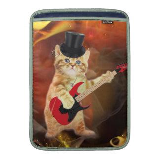 gato del eje de balancín en llamas funda macbook air