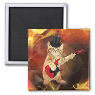 gato del eje de balancín en llamas imán cuadrado
