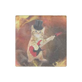 gato del eje de balancín en llamas imán de piedra