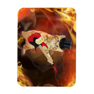 gato del eje de balancín en llamas imanes