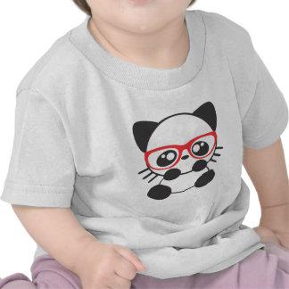 Gato del empollón camiseta