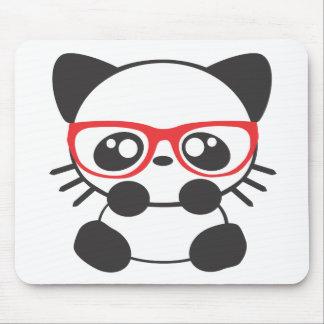Gato del empollón alfombrillas de raton