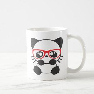 Gato del empollón taza clásica