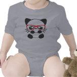 Gato del empollón traje de bebé