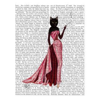 Gato del encanto en el rosa 2 tarjeta postal