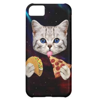 Gato del espacio con el taco y la pizza carcasa iPhone 5C