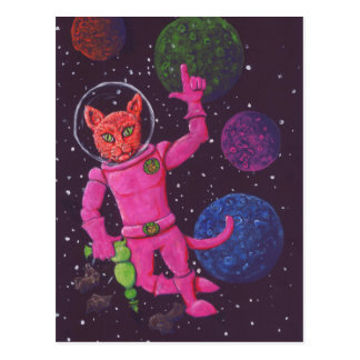 Gato del espacio tarjetas postales