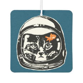 Gato del espacio y el goldfish