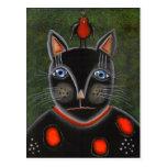 Gato del fiesta del ARTE POPULAR POR la postal de