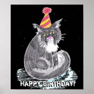 Gato del fiesta poster