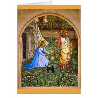 Gato del Fra Angelico Tarjeta De Felicitación