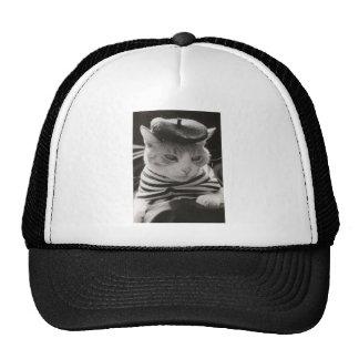 Gato del francés del vintage gorras de camionero