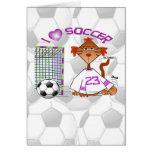 Gato del fútbol tarjeta de felicitación