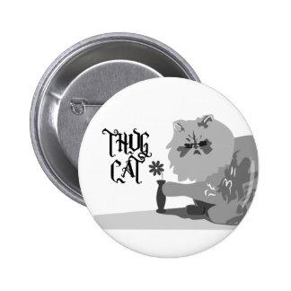 Gato del gamberro pin redondo 5 cm