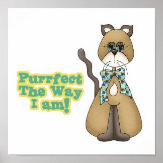 Gato del gatito de la conciencia del autismo de Pu Póster