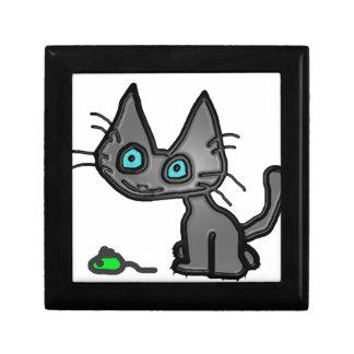 Gato del gatito de Liittle y su ratón del juguete Cajas De Regalo