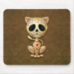 Gato del gatito del azúcar del zombi de Brown Tapetes De Ratones