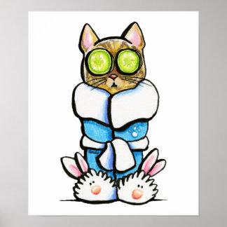 Gato del gatito del balneario póster