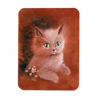 Gato del gatito del día lluvioso imanes rectangulares