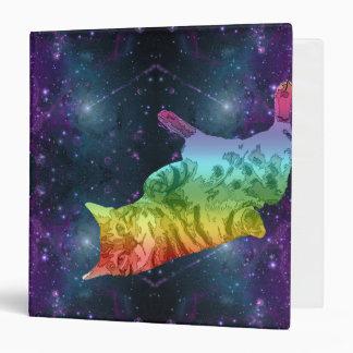 """Gato del gatito del espacio del arco iris que carpeta 1 1/2"""""""
