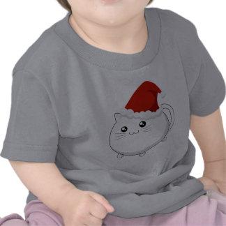 Gato del gatito del navidad de Kawaii Camiseta