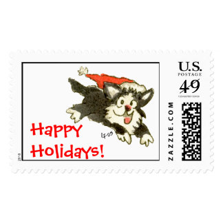 ¡Gato del gatito del navidad del dibujo animado Sellos Postales
