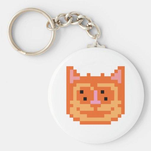Gato del gatito del pixel llavero